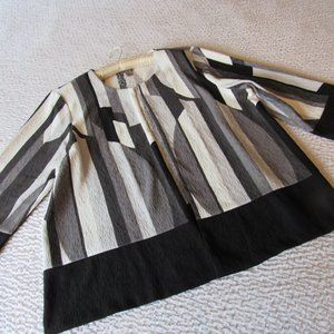 Easywear Chico's Jacket Blazer XL 3 Black White